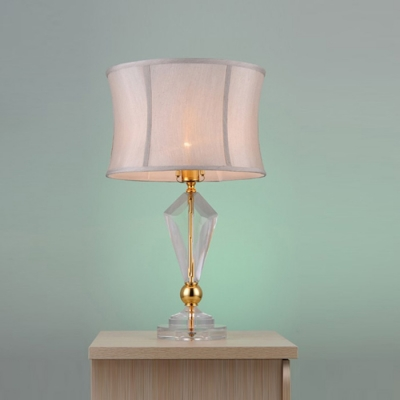 Gorgeous gold finish 243939 high table lamp featuring clear for Table lamp hs code