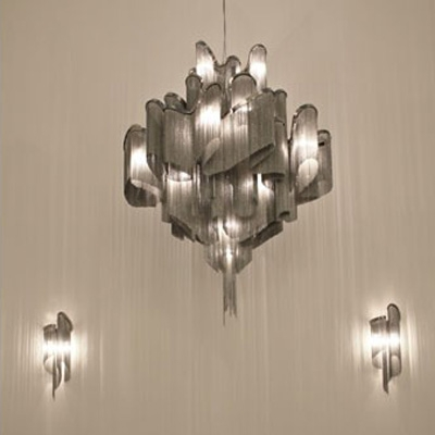 Hanging Chain Pendant Chandelier by Modern Designer Lighting ...