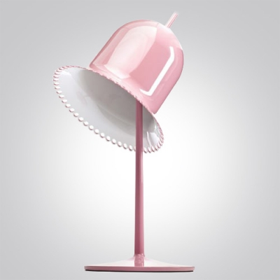 Lovely Pink Finished Hat Shaped Designer Table Lamp