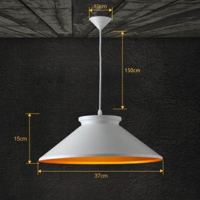 Modern Nordic Style Metal Pendant Light Finished In White