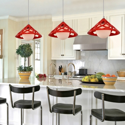 Downard Cone Shaped Resin Made Mini Pendant Light