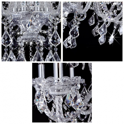 Graceful Crystal Arms and Shinning All Crystal 10 Candle Lights Chandelier