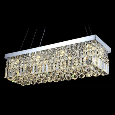 Grand Crystal Pendant Chandelier Creates Sparkling Addition to Entryway or Dining Room