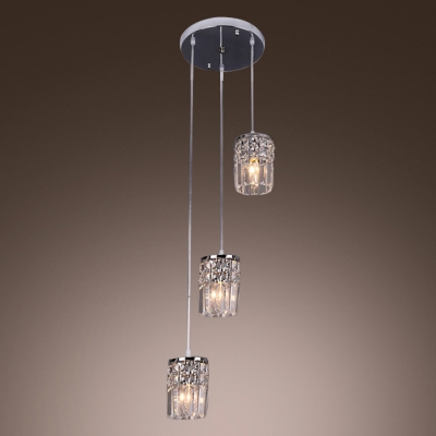 Make Statement with Exclusive Triple Swag Chandelier Featuring Three Chrome Finish Cascading Crystal Pendants