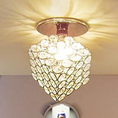 Modern Designed Cube Frame Made Spectacular Semi Flush Ceiling Light Welcomed Addition