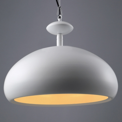 Novelty White Bowl Industrial 16.5Wide Large Pendant Light For Dinning Room