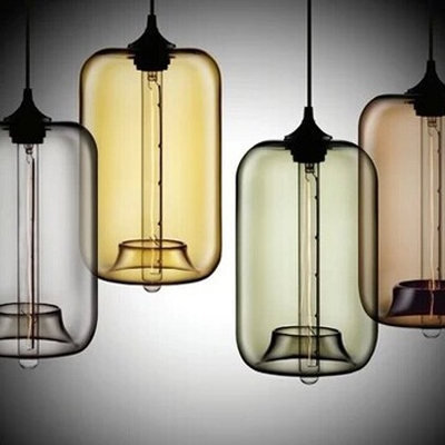 Купить со скидкой Tube LOFT Industrial Multi-color Glass  Pendant Light