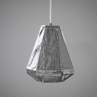 Silver Pendant Light Cell Tall