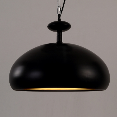 "Black Bowl Industrial 16.5""Wide Large Pendant Light for Dining Room"