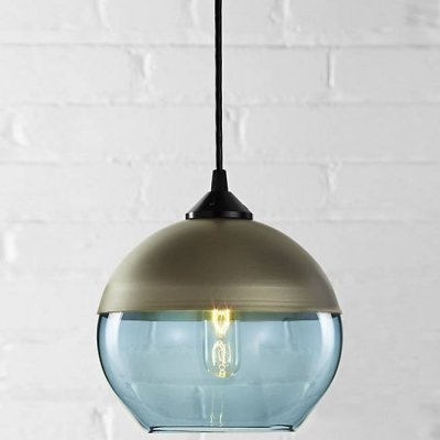 Champagne Socket Bowl Shade Colored Industrial  Pendant Light