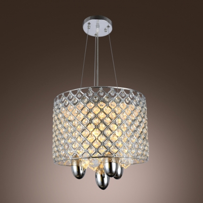 Clear Crystal Beads and Strands Accented Dining Room Pendant Light
