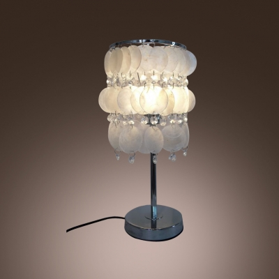Delicate Shell and Crystal Beads Complete Delightful Elegant Table Lamp