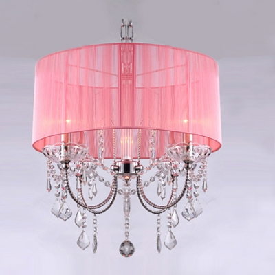 Elegantly Crystal Strands and Droplets Sheer Shaded Modern Chandelier