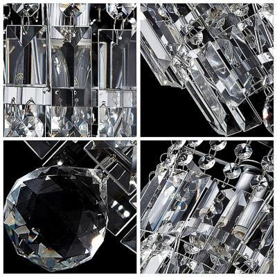 Jewel-Like Crystal Prisms and Chrome Mini Pendnat Lighting Hanging A Crystal Ball