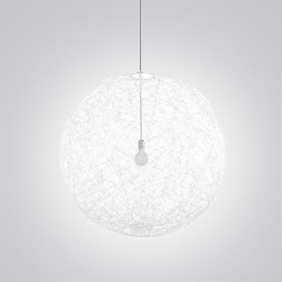 Mini Black Linen Wire Globe Suspension Pendant Light