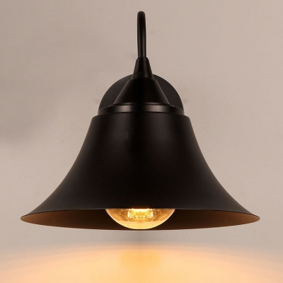 1 Light Wall Lantern Bell shade