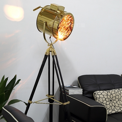 1 light floor lamp gold lamps floor lamps tripod lamps - Spotlight Floor Lamp