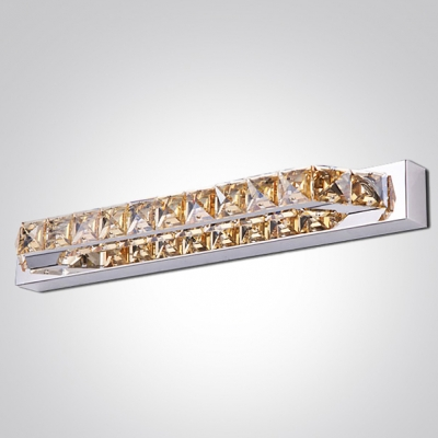 Spectacular Bathroom Wall Fixture Makes Treasure to Behold Accented by Hand-cut Crystal