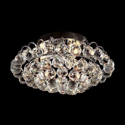 Brilliant crystal semi flushmount light fixture with dazzling brilliant crystal semi flushmount light fixture with dazzling hanging crystal balls create dainty look mozeypictures Gallery