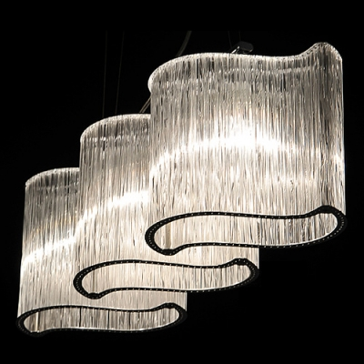 Elegant Crystal Island Lighting Fixture Install Over Kitchen Or Dining Table