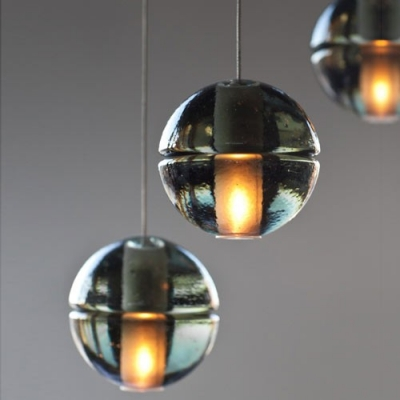 Excellent Cascade Glass Ball Pendant Light 14-Light - Beautifulhalo.com QV55