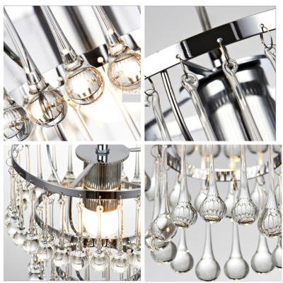 Hanging There Tiers Raindrops Charming Chrome Finished Foyer Light Mini Pendant