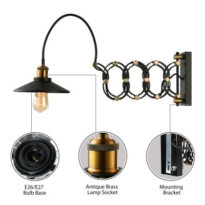 ... Antique Black Gold Jade 1 Light LED Wall Sconce In Greek Scissor Design