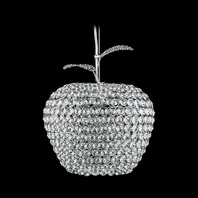 Intriguing Apple Design All Elegant Crystals Accented Mini Pendant Lights