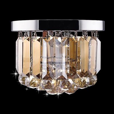 Lovely And Chic Single Light Foyer Light Crystal Flush