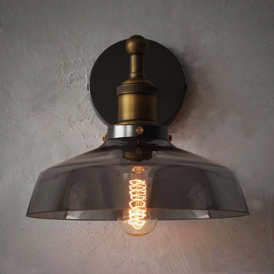 LED Wall Light with Clear Glass in Rustic Bronze Finish