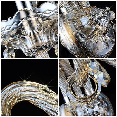 Splendid Magnificent Design Add Exquisite Embelishment to Elegant Crystal Wall Light Fixture