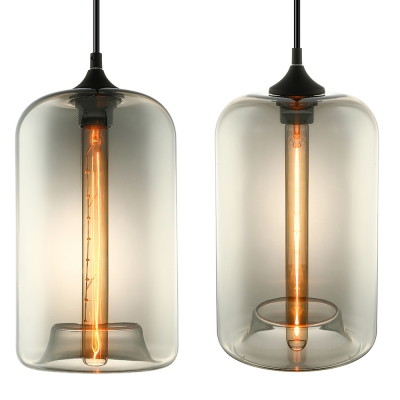 Tube LOFT Industrial Multi-color Glass  Pendant Light