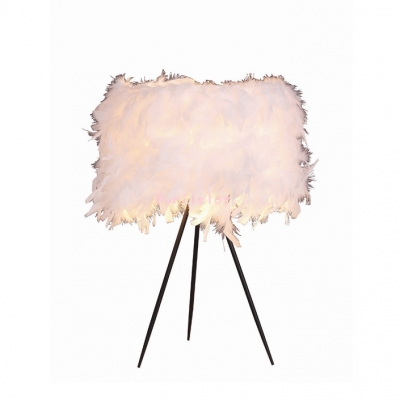 Wide Romantic And Beautiful  Feather Designer Table Lamp 12