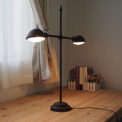 2 Light Bronze Desk Lamp Task Lighting