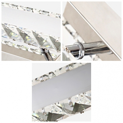 Attractive Bathroom Wall Light Features Studded with Clear Crystal Accents Offers Distinctive Style