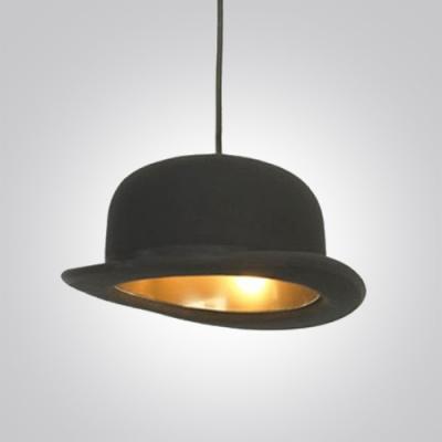 "Charming Black Hat 10.2""Wide Designer Pendant Lighting with Gold Inner Side"