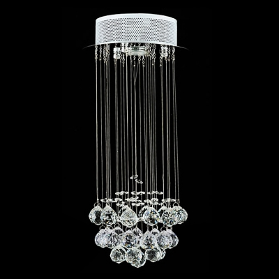 Clear Crystal Balls Cluster Foyer Light 7.8
