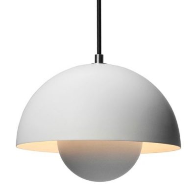 Black/White Pendant Light Flowerpot