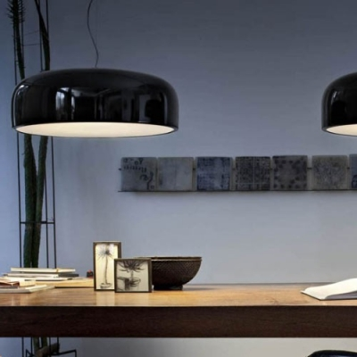 Elegant Round Plate Shaped Designer Large Pendant Light for Dining Room