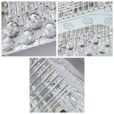 Intriguing and Glittering Crystal Accents and Crystal Glass Shaded 23.6