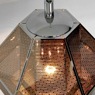Silver Pendant Light Cell Short