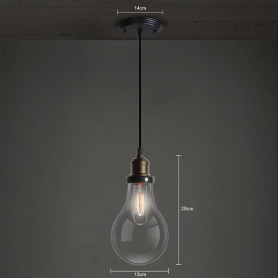 Edison Bronze 10 Light LED Hanging Multi Pendant with Clear Glass