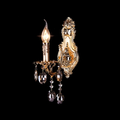 15'' High Glamourous Shimmering Ornate Gilded Single Light Fixture