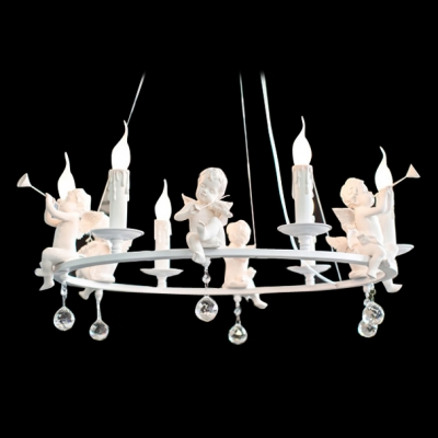 Amazing Resin Angles Accents Round Band Chandelier Light Chandelier Falling Bright Crystal Balls
