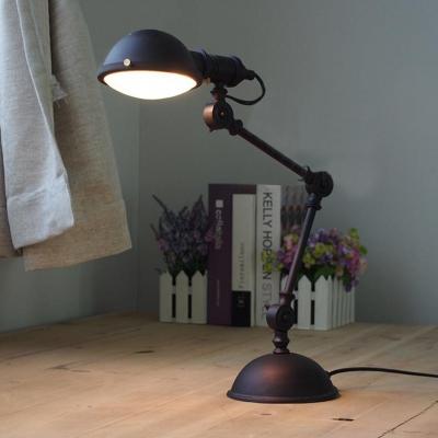 Black Finish Industrial Task Lighting Table Lamp