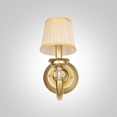 Eye-catching Wall Light Sconce Adorned with Brass Finish Details and Clear Crystal Ball
