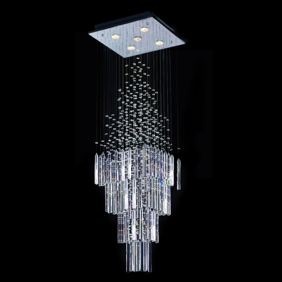Fashion style spiral chandeliers square crystal lights modern 511 aloadofball Image collections