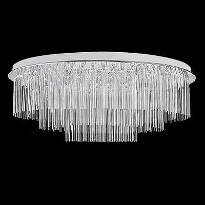 Round Luxurious Clear Crystal Glass Rods and Drops Falling 19.6