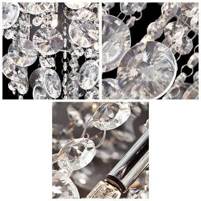 Wonderfully 6-Light Shimmering Crystal Beaded Rain 13.7