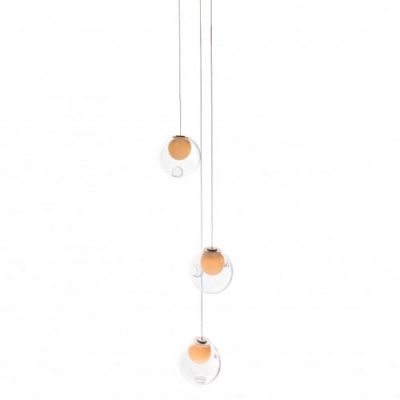 Cluster Inner Glass Ball Multi-Light Pendant 3-Light
